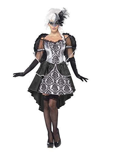 Smiffys, Damen Dark Angel Kostüm, Kleid und Flügel, Größe: L, 41105