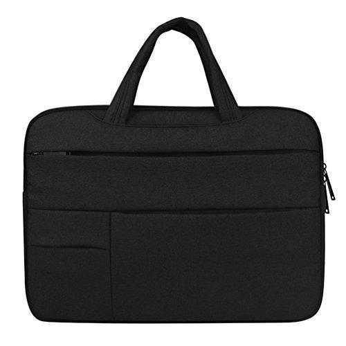 Yuncai 11.6-15.6 Zoll Multifunktional Laptop Handtasche Apple Macbook Stoßfest Notebook Schutztasche Schwarz 13.3Inch
