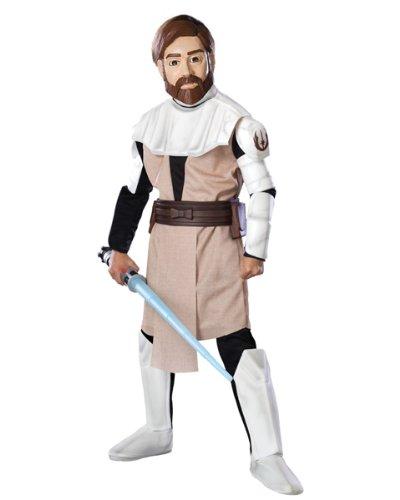 Kenobi Obi Kostüme Kinder Wan (Deluxe Obi Wan Kenobi Kinder Kostüm Star Wars Kinderkostüm Größe L 8-10)