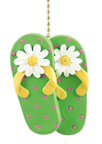Tiki Beach Sandals Flip Flops Decor Fan Light Pull by Clementine Designs