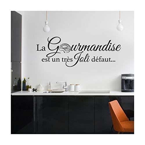 Stickers Cuisine La Gourmandise Est Un Très Joli Défaut Vinyle...