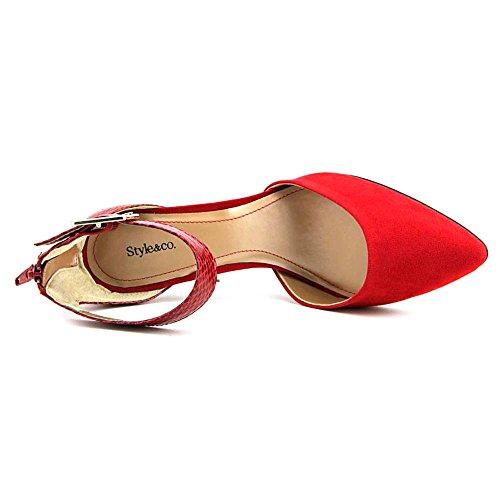 Style & Co Miloe 2 Spitz Kunstleder Stöckelschuhe Phonebox Red