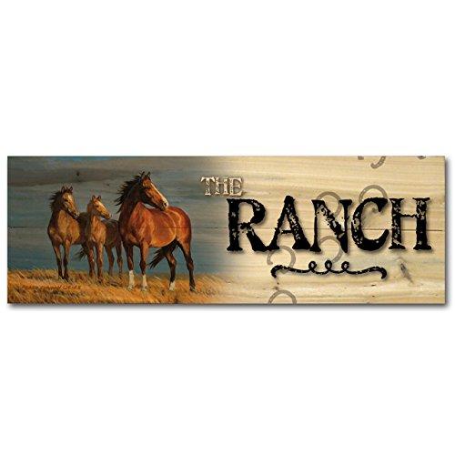 Ranch Lodge (WGI-GALLERY 124Ranch auf Alert Holz Wand Art)