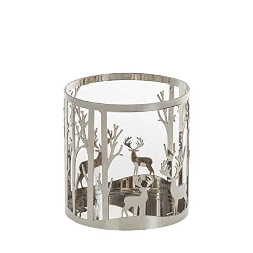 Yankee Candle - Jar-Kerzenhalter Winterscape - Metall - Maße (HxØ): 10,5 x 10,1 cm -