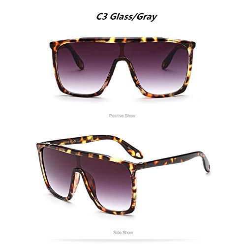 TYJYTM Retro Big Frame Frauen Sonnenbrillen UV400 Gradient Vintage Brillen Cool Man Reitbrillen
