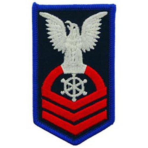 U.S. Navy Chief Petty Officer Patch Red & Blue 3
