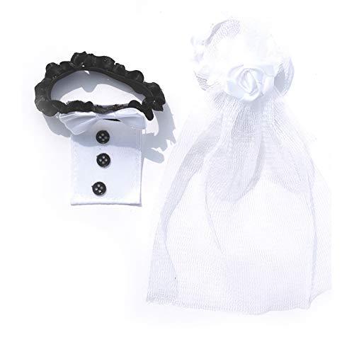 joizo 1pc Hochzeit Glas-Wein-Cup Hedging Hochzeit Wein Toasten Gläser Abdeckung für Tischdekoration Braut und Braut Typ Dekorative Flasche Champagner Zufall Typen Set