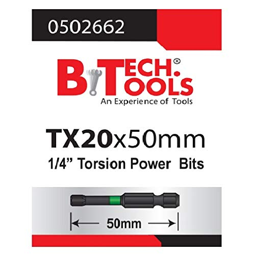 B.TECH TOOLS B. Tech 0502662 ACR Torx TX20 Torsions-Bit, 50 mm