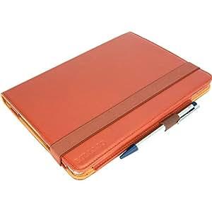 """'BULLAZO iPad custodia in pelle case borsa """"Experto per Apple iPad Air in vera pelle con funzione leggio, scomparti portatessere, Maniglia e laccio di chiusura, in nero e marrone (Cognac), di alta qualità aggiuntivo in classico moderno Business Look. marrone cognac iPad Air 2"""