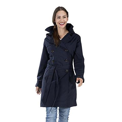 HappyRainyDays - Femme | Manteau imperméable, trench-coat avec capuche Nena Bleu, Taille XL
