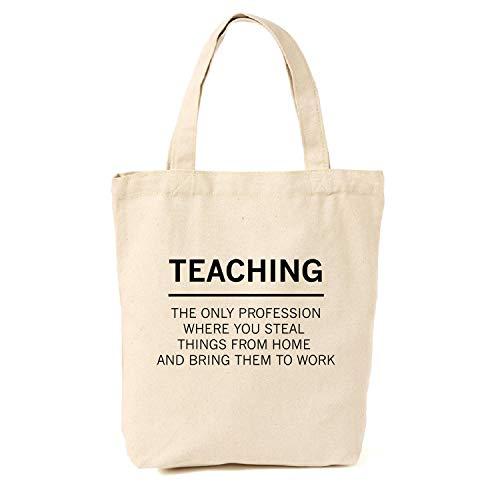 (Tragetasche für Lehrer, Steal From Home aus Segeltuch, Geschenkideen für Lehrer, Lehrer und Lehrer, lustiges Geschenk)