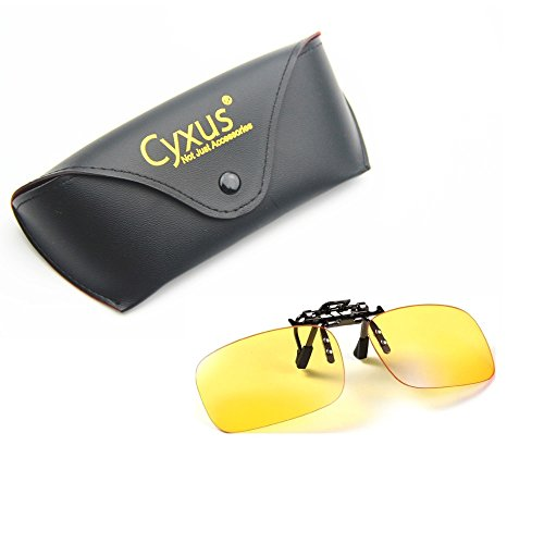 Cyxus Blue Light Filter Glasses. UV Blocking Anti-Eye Strain Clip On Eyeware , Computer/Cell Phone/PC Game/TV Radiation Protection
