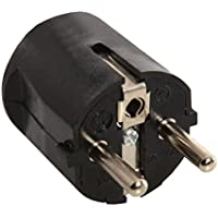 AS–Schwabe SCHUKO angled plug 230V Black, 45042 - ukpricecomparsion.eu