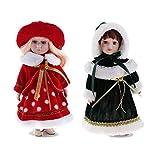 Fenteer Bambole da Collezione in Porcellana Vittoriana da 12 Pollici da Collezione, Bellissime Statuine di Figurine Femminili