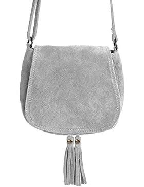 Ledertasche klein Lederhandtasche kleine Umhängetasche Fransen echt Leder Tasche Wildleder Handtasche Vintage...