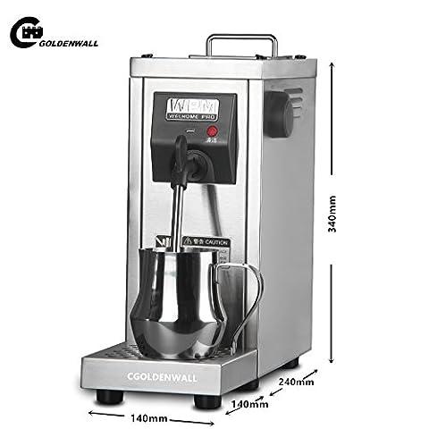 cgoldenwall ms-130d Commercial Automatische Elektrischer Milchaufschäumer Edelstahl Schokolade Kaffee Dampfgarer Heizung Steam Milk Bubble Maker für die Kaffee Milch Latte Cappuccino Schäumer 0,7l 220V