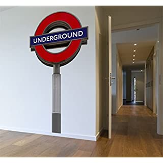 Large London Tube Sign Removable Wall Sticker,Large Underground sign wall decal,Peel and stick London Wall Art