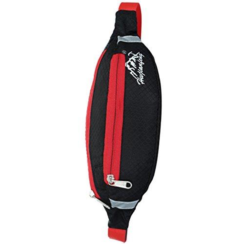 Sport Hüfttasche, Wasserdicht Unisex, Brusttasche für Radfahren, Bergsteigen, Wandern, Jogging Schwarz
