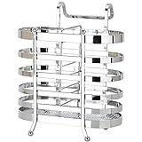 Verdickte Lagerregale können aufgehängt werden, Essstäbchenablage, 16 * 8 * 19.5cm (Farbe : Silber)