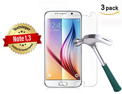Cardana | 3x bruchsicheres Panzerglas für Samsung Galaxy S6 | Schutzfolie aus 9H Echt Glas| angenehme Handhabung | Schutzglas zum Schutz vor Displayschäden | blasenfreie Anbringung | 3 Stück…