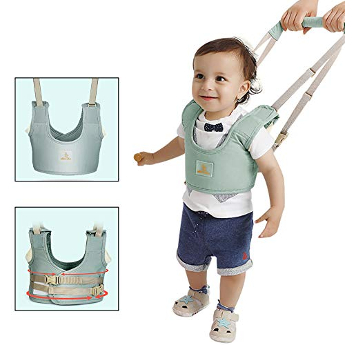 Ansblue Baby Walk Learning Belt, Lernhilfe Gehhilfe für Kleinkind, verstellbarer Gurt - grün
