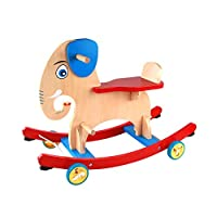 LGP Child Baby Wooden Rocking Horse Toy for Kid 1-3 Years Outdoor Ride Horse Rocking Chair Infant Balance Training