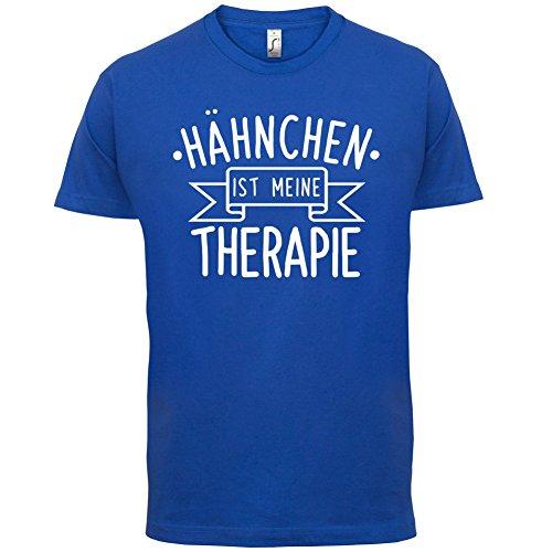 Hähnchen ist meine Therapie - Herren T-Shirt - 13 Farben Royalblau