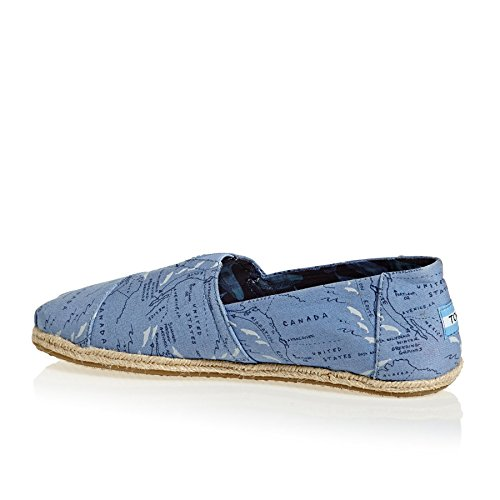 TOMS Alpargata Shoes UK 12 Blue Mirgration Route
