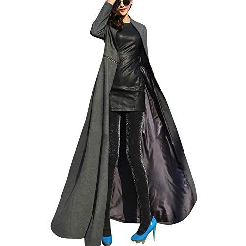 Dorical Mantel Damen Winter Warm Elegante In voller Länge Jacke Mantel Wickler Unterbrecher Slim Fit Lange Graben Outwear Parka S-XXXL