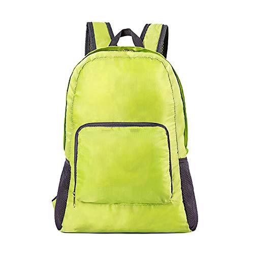 BAACD Leichter Reiserucksack, ultradünne Sommerreisetasche, wasserdicht, großvolumig, faltbar, im Freien, männlich, weiblich, Kinderurlaub, blau, schwarz, leichter Rucksack, green-one