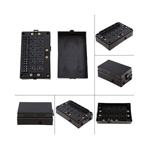 Preisvergleich Produktbild QCBXSLLL Kfz-Sicherungshalter Relaissockel Black Box 18-Wege-Sicherungshalter Kfz-Kfz-Versicherung für Kfz-Marine