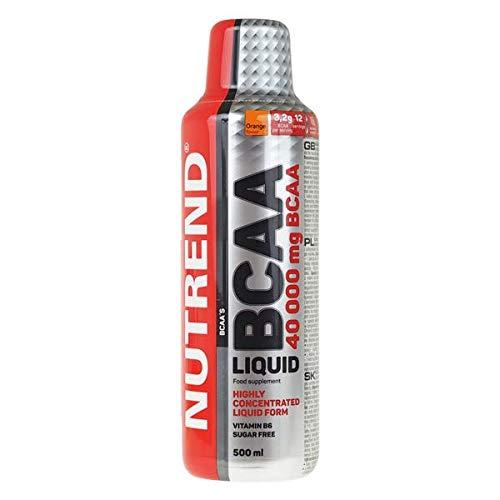 Nutrend BCAA LIQUIDE 40 000 500ml acides aminés de saveur d'orange L-leucine, L-isoleucine et L-valine (BCAA) sous une forme liquide 3200 mg BCAA par portion, de la vitamine B6, SANS SUCRE