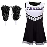 Cherry-on-Top Black White Cheerleader Outfit Medium