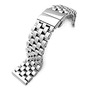Super Engineer II Bracelet de montre en acier inoxydable massif à boucle déployante 22mm