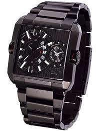 """Police """"Rogue"""" Dualtime P11745MSB-02M - Reloj de caballero de cuarzo, correa de acero inoxidable color negro"""