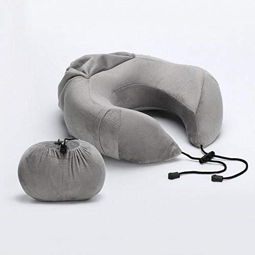 Lounayy Kissen Nackenkissen Memory Foam Reise Kopfunterstützung Basic Mode Bestes Kissen Mit Falten Abnehmbare Abdeckung Dark Blue (Color : Light Grey, Size : One Size) - Basic-kissen-abdeckungen