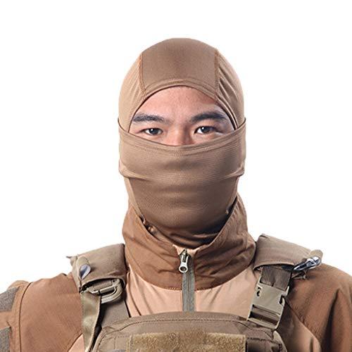 TAOtTAO Outdoor-Schutzmaske für einfarbige Kopfbedeckungen Ski Mask Vollgesichtsmotorradmaske-Hals-Gamaschen-Fahrwerk für Männer-Frauen-Kinder (B)