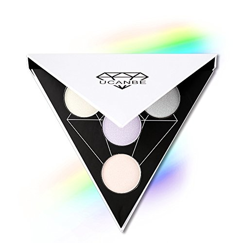UCANBE Shimmer Highlighter Palette Flash Powder - Face Bright Eye Shadow Highlight Light Illuminator Makeup