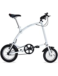 Ossby Curve - Bicicleta plegable, color blanco