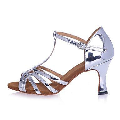 XIAMUO Nicht anpassbar - Die Frauen tanzen Schuhe Kunstleder Kunstleder Latein Sandalen entzündete Ferse Praxis/Professional/Innen-/Leistung Gold
