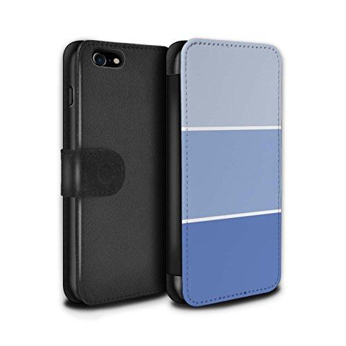Stuff4 Coque/Etui/Housse Cuir PU Case/Cover pour Apple iPhone 8 / Pack 10pcs Design / Tons de Couleur Pastel Collection Bleu