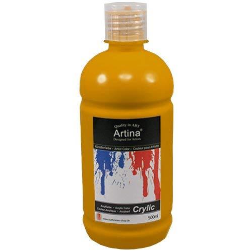 Artina Acrílicos colores acrílicos pintura acrílica 500 ml - Amarillo ocre