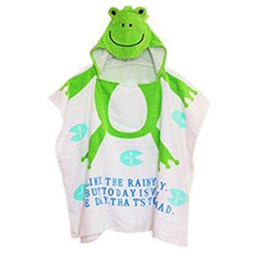 Mainaisi Serviettes de Bain Avec Capuche Pour Bébé Animaux 10 Couleurs (Green Frog,60 * 120CM)