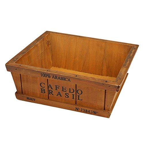 PB PEGGYBUY Holz Garten Sukkulente Übertopf Pflanzen Container Container Box Display Boxen eine (Hotel Regal-kit)
