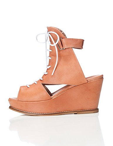 FIND Damen Bree Wedge Sandalen Braun (Nude)