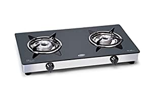 Glen Aluminium 2 Burner Cooktop, Black
