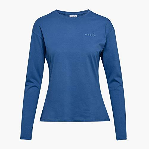 Diadora Damen L.LS T-Shirt CORE blau, XL -
