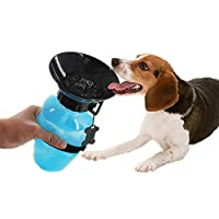 House of Quirk Travel Pet Dog Water Bottle Mug Cat Puppy Hydrated on The go - Multi