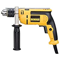 DeWalt 750W 13mm percussion drill with variable speed switch for Drilling concrete Metal wood., Yellow/Black, DWD024K-B53 Year Warrnty