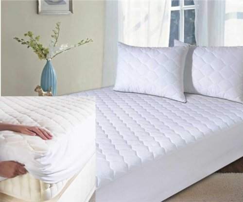 Super King Size Bed Quilted Mattress Protector Fitted Bed Cover